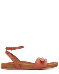 Sandalias planas en tabaco de Stella McCartney