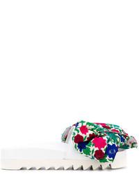 Sandalias planas estampadas blancas de Joshua Sanders