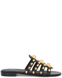 Sandalias planas negras de Balenciaga