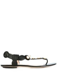 Sandalias planas negras de Gucci
