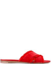 Sandalias planas rojas de Gianvito Rossi