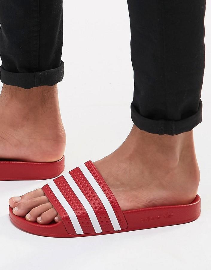 chanclas adidas mujer rojas