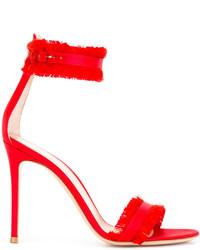Sandalias rojas de Gianvito Rossi