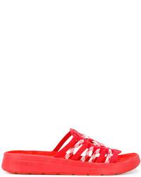 Sandalias rojas de Missoni