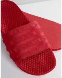 Sandalias rojas de adidas