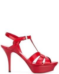 Sandalias rojas de Saint Laurent