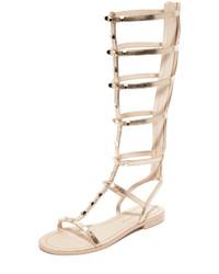 Sandalias romanas altas de cuero doradas de Rebecca Minkoff