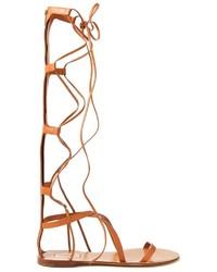 Sandalias romanas altas marrones original 8777058