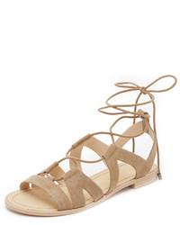 Sandalias romanas de ante marrón claro de Rebecca Minkoff