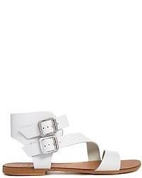 Sandalias romanas de cuero blancas de Aldo