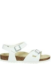 Sandalias romanas de cuero blancas de Birkenstock