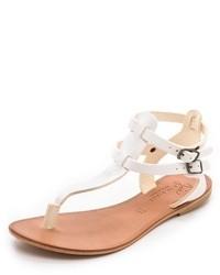 Sandalias romanas de cuero blancas de Joie a la Plage