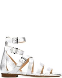 Sandalias romanas de cuero blancas de MICHAEL Michael Kors