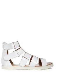Sandalias romanas de cuero blancas de Park Lane