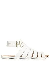 Sandalias romanas de cuero blancas de Pieces