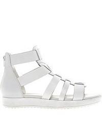 Sandalias romanas de cuero blancas de Vagabond