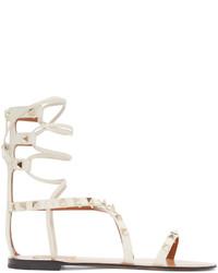 Sandalias romanas de cuero en beige de Valentino