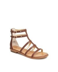 Sandalias romanas de cuero marrónes