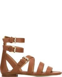 Sandalias romanas de cuero marrónes de MICHAEL Michael Kors