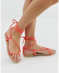 Sandalias romanas de cuero naranjas de SIMMI Shoes