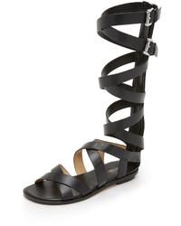 Sandalias romanas de cuero negras de MICHAEL Michael Kors