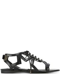 Sandalias romanas de cuero negras de Stella McCartney