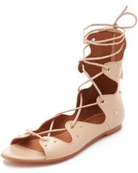 Sandalias romanas de cuero rosadas de IRO