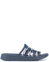 Sandalias tejidas azules de Missoni