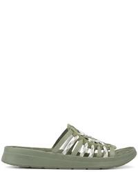 Sandalias tejidas verde oliva de Missoni