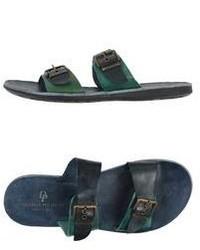 Sandalias verde oscuro