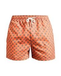 Shorts de baño a lunares naranjas de Oas