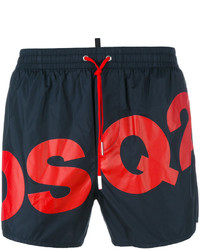 Shorts de baño azul marino de DSQUARED2