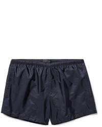 Shorts de baño azul marino de Prada