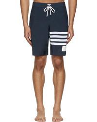 Shorts de baño azul marino de Thom Browne