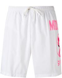 Shorts de baño blancos de Moschino