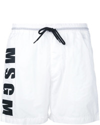 Shorts de baño blancos de MSGM