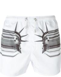 Shorts de baño blancos de Neil Barrett