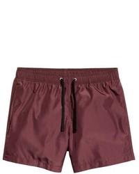 Shorts de baño burdeos