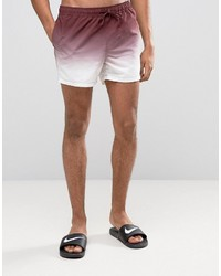Shorts de baño burdeos de Asos
