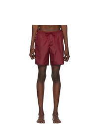 Shorts de baño burdeos de Gucci