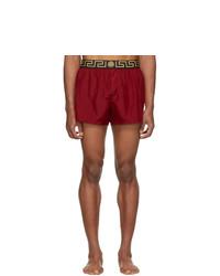 Shorts de baño burdeos de Versace Underwear
