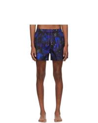 Shorts de baño con print de flores azul marino de Paul Smith