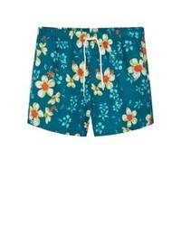 Shorts de baño con print de flores Azules de Mango