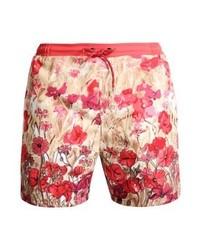 Shorts de baño con print de flores Rojos de Hugo Boss