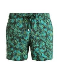 Shorts de baño con print de flores verde oscuro de Vilebrequin