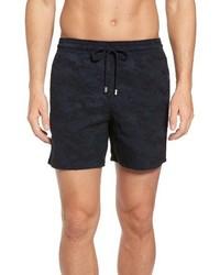 Shorts de baño de camuflaje azul marino