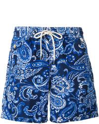 Shorts de baño de paisley azules de Polo Ralph Lauren