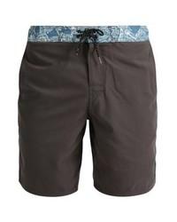 Shorts de baño de paisley en gris oscuro de Brunotti