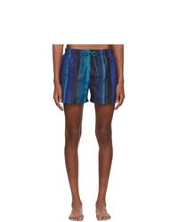 Shorts de baño de rayas verticales azul marino de Paul Smith