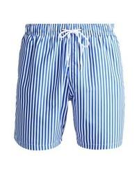 Shorts de baño de rayas verticales celestes de Boardies